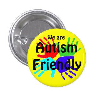 Somos autismo amistoso pin redondo de 1 pulgada