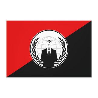 Somos bandera anónima del anarquista lona estirada galerías