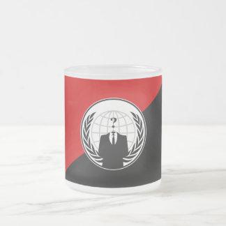Somos bandera anónima del anarquista taza de cristal