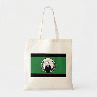 Somos bandera verde y negra anónima bolsa tela barata