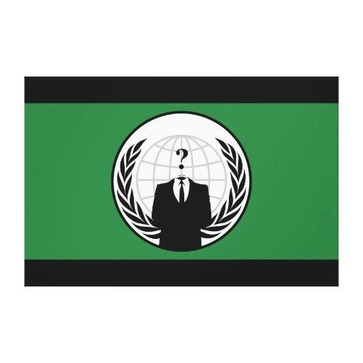 Somos bandera verde y negra anónima impresión en lona estirada