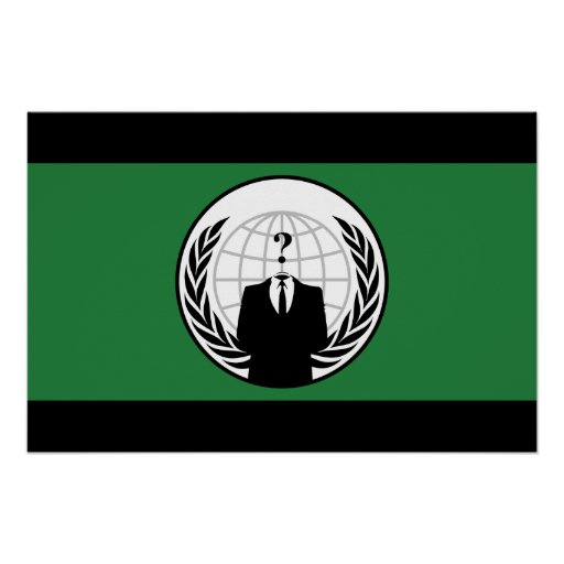 Somos bandera verde y negra anónima póster