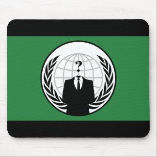 Somos bandera verde y negra anónima alfombrilla de ratón