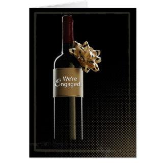 Somos botella de vino dedicada tarjeta de felicitación