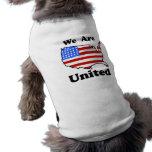 Somos camisa unida del perro camisetas de mascota