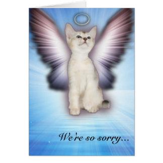 Somos - condolencia del gato - grupo tan triste tarjeta de felicitación