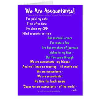 ¡Somos contables! Adaptable de doble cara Tarjeta De Felicitación