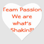 ¡Somos cuál es shakin! Colcomanias De Corazon