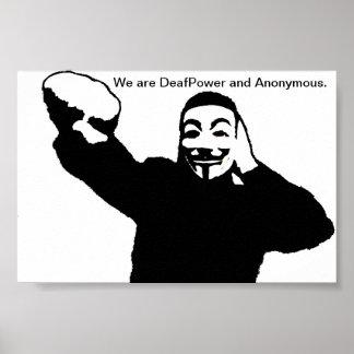 Somos DeafPower y anónimos Póster