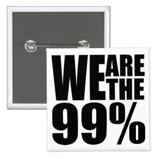 Somos el botón del 99% pin cuadrado
