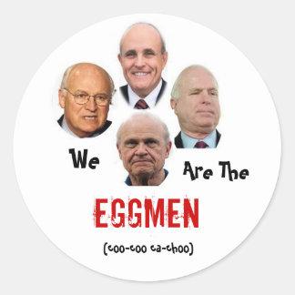 Somos el Eggmen Pegatina Redonda