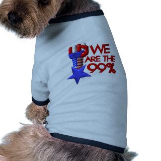 Somos estrella de levantamiento del 99% camisa de mascota