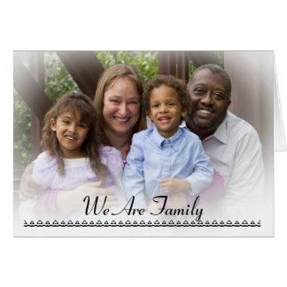 Somos familia tarjeta de felicitación
