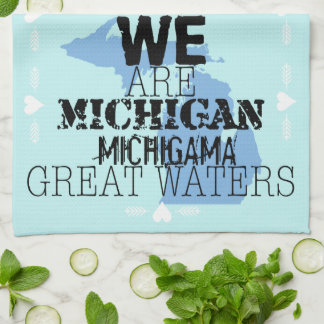 Somos grandes aguas de Michigan Michigama Toallas De Mano