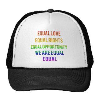 ¡Somos iguales! Gorras De Camionero