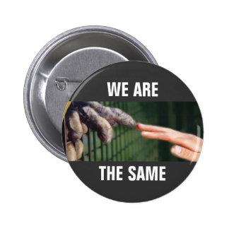 Somos iguales pin redondo de 2 pulgadas