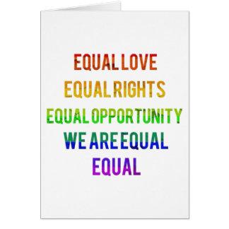 ¡Somos iguales! Tarjeta De Felicitación