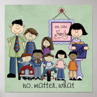somos impresión de la familia póster