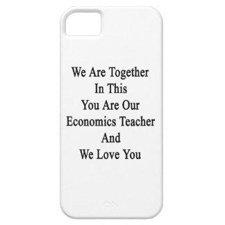 Somos juntos en esto que usted es nuestra economía iPhone 5 Case-Mate funda