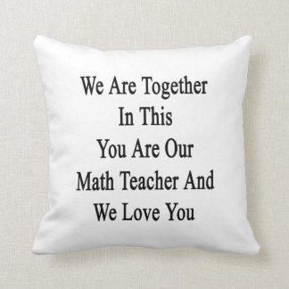 Somos juntos en esto que usted es nuestro profesor almohadas