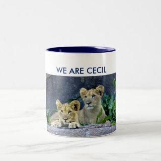 Somos león Cubs de Cecil Cecil Taza Dos Tonos