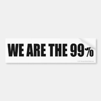 Somos los 99% etiqueta de parachoque