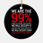 Somos los 99% - el 99 por ciento ocupa Wall Street Ornamento Para Arbol De Navidad