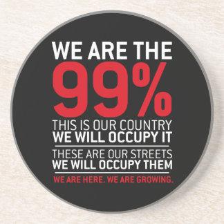 Somos los 99% - el 99 por ciento ocupa Wall Street Posavasos Manualidades