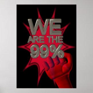 Somos los 99% ocupamos el poster/la muestra del pu