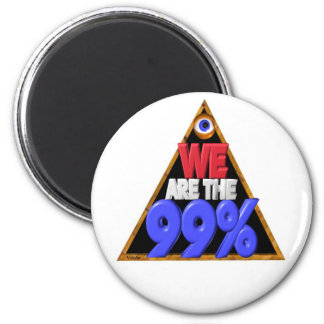 Somos los 99% ocupamos la protesta de Wall Street Imán Redondo 5 Cm