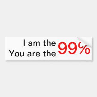 Somos los 99% pegatina para auto