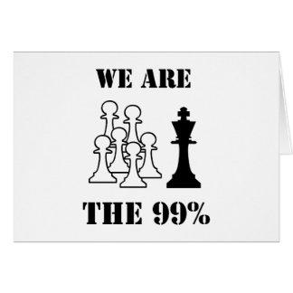 Somos los 99% tarjeta de felicitación
