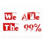Somos los 99% tarjeta postal