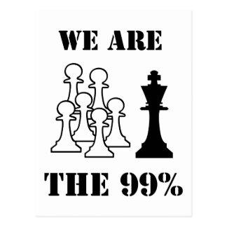 Somos los 99% tarjetas postales