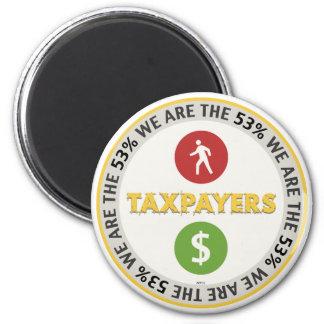 Somos los contribuyentes del 53% imán redondo 5 cm