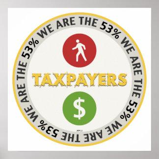 Somos los contribuyentes del 53% póster