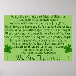 ¡Somos los irlandeses! Impresión del poster