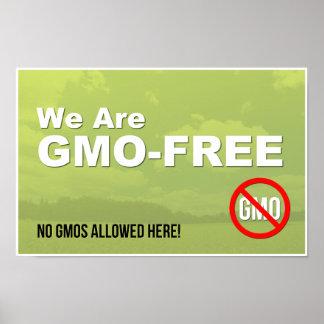 Somos muestra GMO-Libre de la ventana Póster