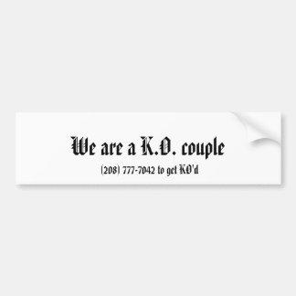 Somos pares de K.O., (208) 777-7042 a conseguir KO Pegatina Para Auto