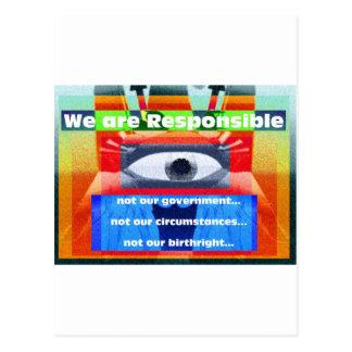 Somos responsables no nuestro gobierno postal