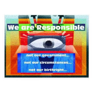 Somos responsables no nuestro gobierno tarjetas postales