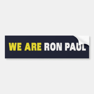 SOMOS RON PAUL PEGATINA PARA AUTO