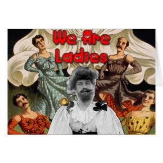 Somos señoras - tarjeta del saludo/de nota