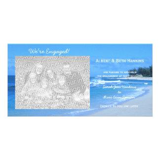Somos tarjetas azules dedicadas de la foto del océ plantilla para tarjeta de foto