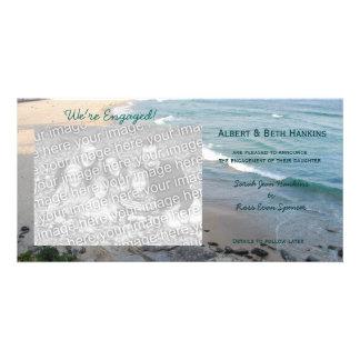 Somos tarjetas dedicadas de la foto de la playa tarjetas fotograficas personalizadas