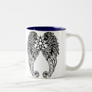"""""""Somos"""" taza de café dedicada con el interior del"""