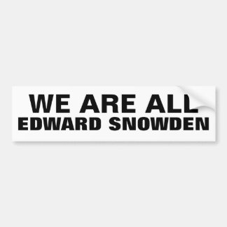 SOMOS TODO EL EDWARD SNOWDEN - pegatina para el pa Pegatina Para Auto