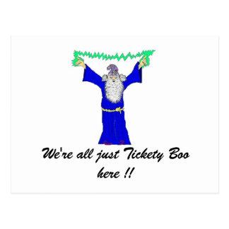 Somos todos apenas abucheo de Tickety… Postales