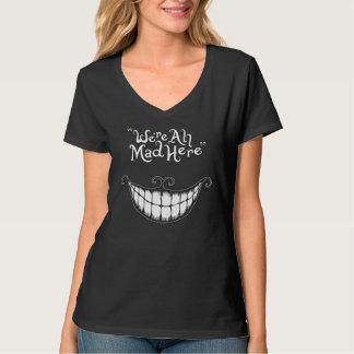 Somos todos aquí camiseta enojada playera