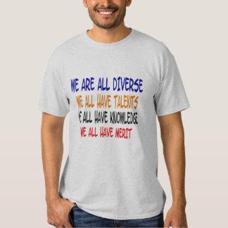 Somos todos camiseta diversa poleras